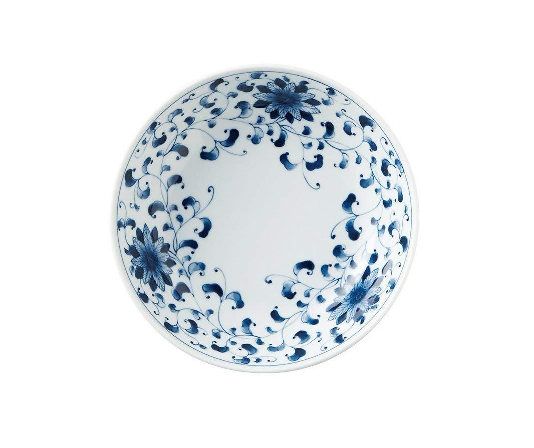 Japanese Ceramic 8.3' Chrysanthemum arabesque pattern Bowl for Pasta or Salad Made in JAPAN Mino ware