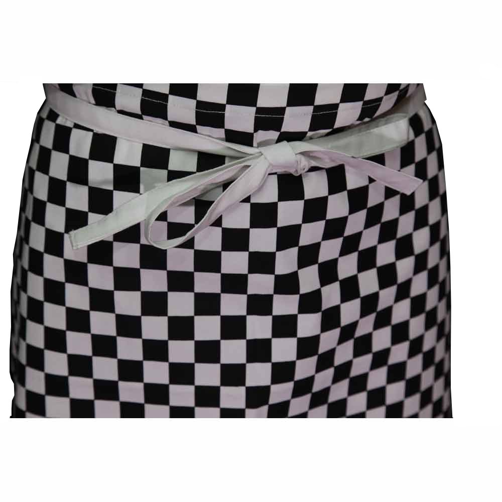 White apron catering menu - Chefs Caterers Long Waist Checkered Aprons In Four Colours
