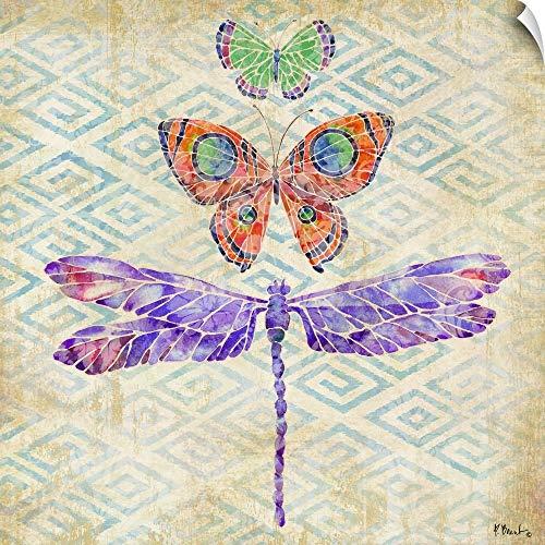 (CANVAS ON DEMAND Enchanting Wings II Wall Peel Art Print, 35