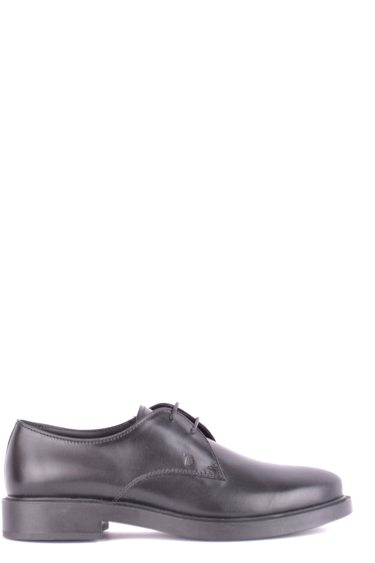 Tod's Women's Mcbi293235o Black Leather Lace-Up Shoes