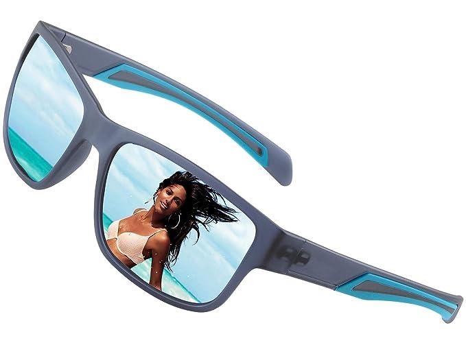 afeb75031c4 Amazon.com  HD Polarized Sunglasses for Women Men Wayfarer-Vintage ...