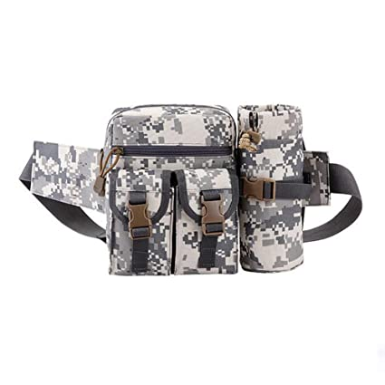 037798301d65 Tactical Waist Pack Pouch With Water Bottle Pocket Holder Waterproof Molle  Fanny Hip Belt Bag for Hiking Running Cycling Camping Climbing Travel ...