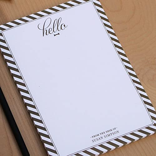 amazon com personalized note pad striped notepad custom notepads