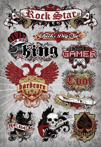 KAREN FOSTER Design Acid and Lignin Free Scrapbooking Sticker Sheet, Teen Boy]()