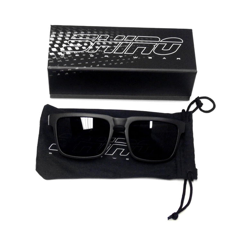 Polarized Wayfarer Sunglasses - UV Protection - Unisex, Adult - Frame BLACK Lenses BLACK (963)