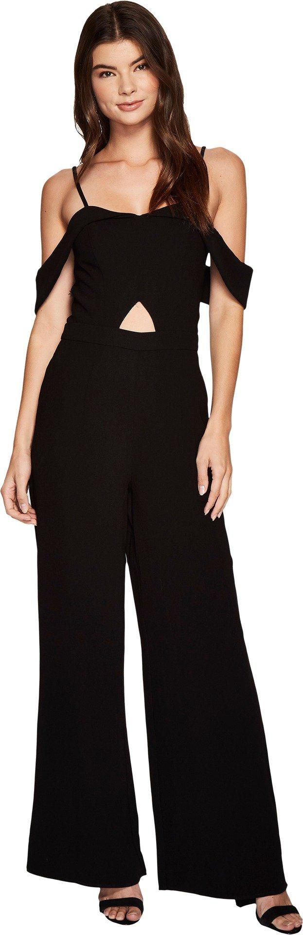 J.O.A. Women's Cut Out Jumpsuit Black X-Small
