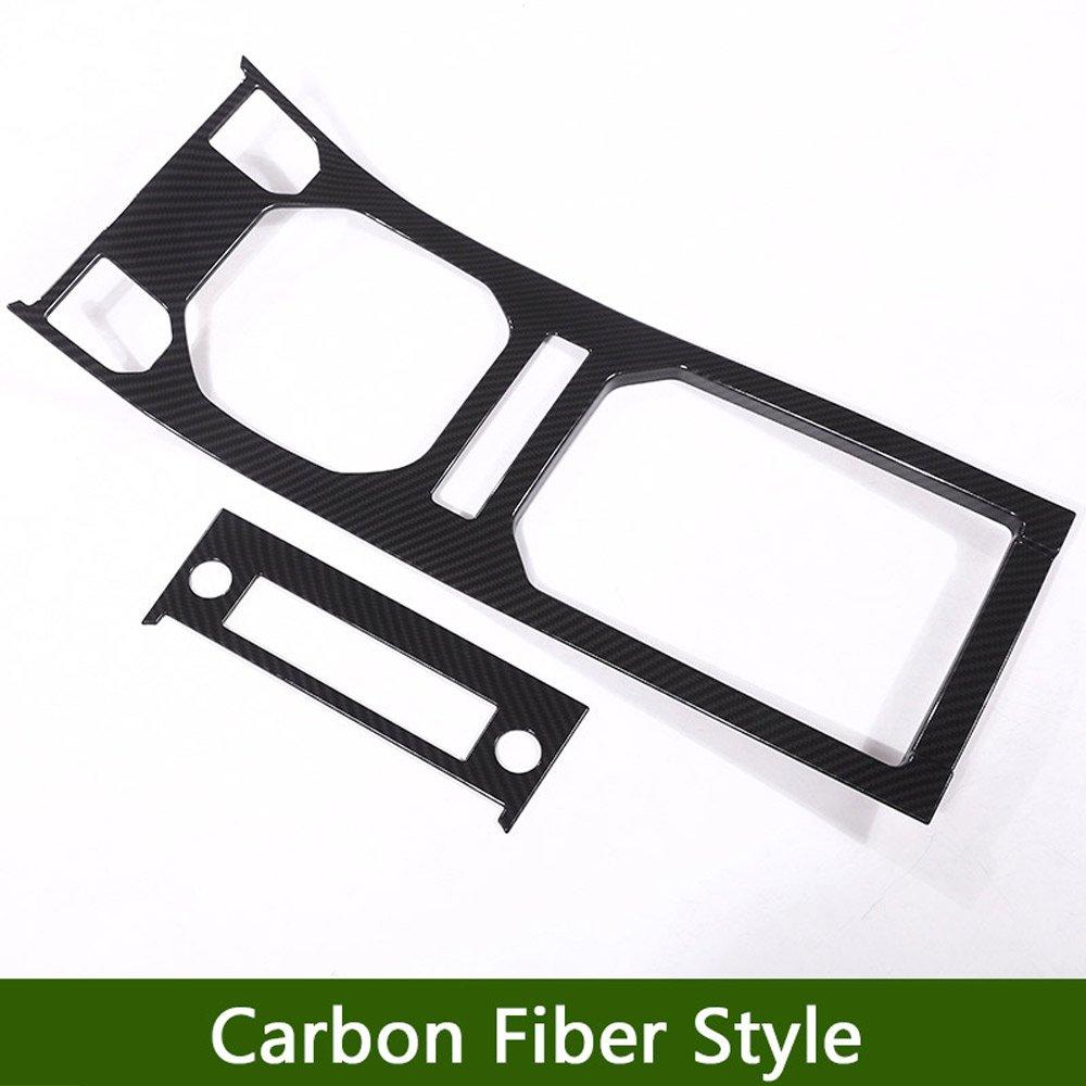 Fibra de Carbono Pl/ástico ABS centro consola Gear Panel decorativo de coche nuevo