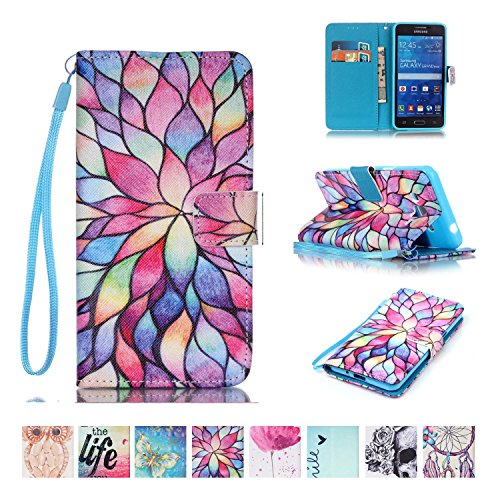 Galaxy Grand Prime Case, Firefish Kickstand Flip [Card Slots] Wallet Cover Double Layer Bumper Shell with Magnetic Closure Strap Protective Case for Samsung Galaxy Grand Prime (SM-G530)