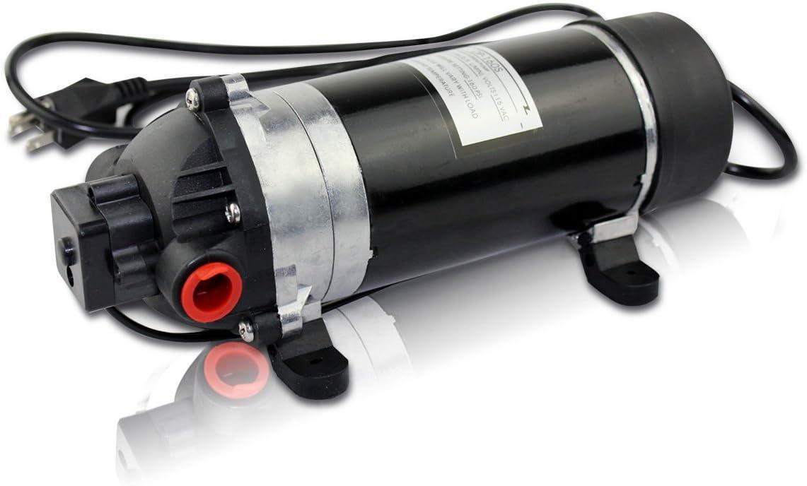 BACOENG 160PSI High Pressure Water Diaphragm Pump, Misting Booster Pump Sprayer for Caravan/RV/Boat/Marine