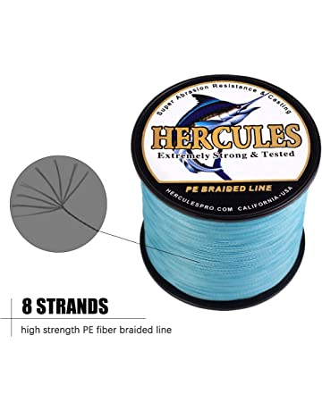 e73023dca41 HERCULES Cost-Effective Super Cast 8 Strands Braided Fishing Line 10LB to  300LB Test for