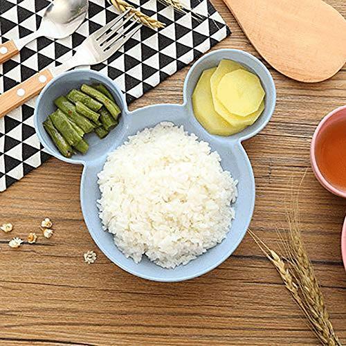 Cartoon Obstteller Teller Teller Essen Mahlzeit Teller Reis Futternapf Snack Teller f/ür Kinder BPA-frei Wiederverwendbar Beige OurLeeme Kinder Teller