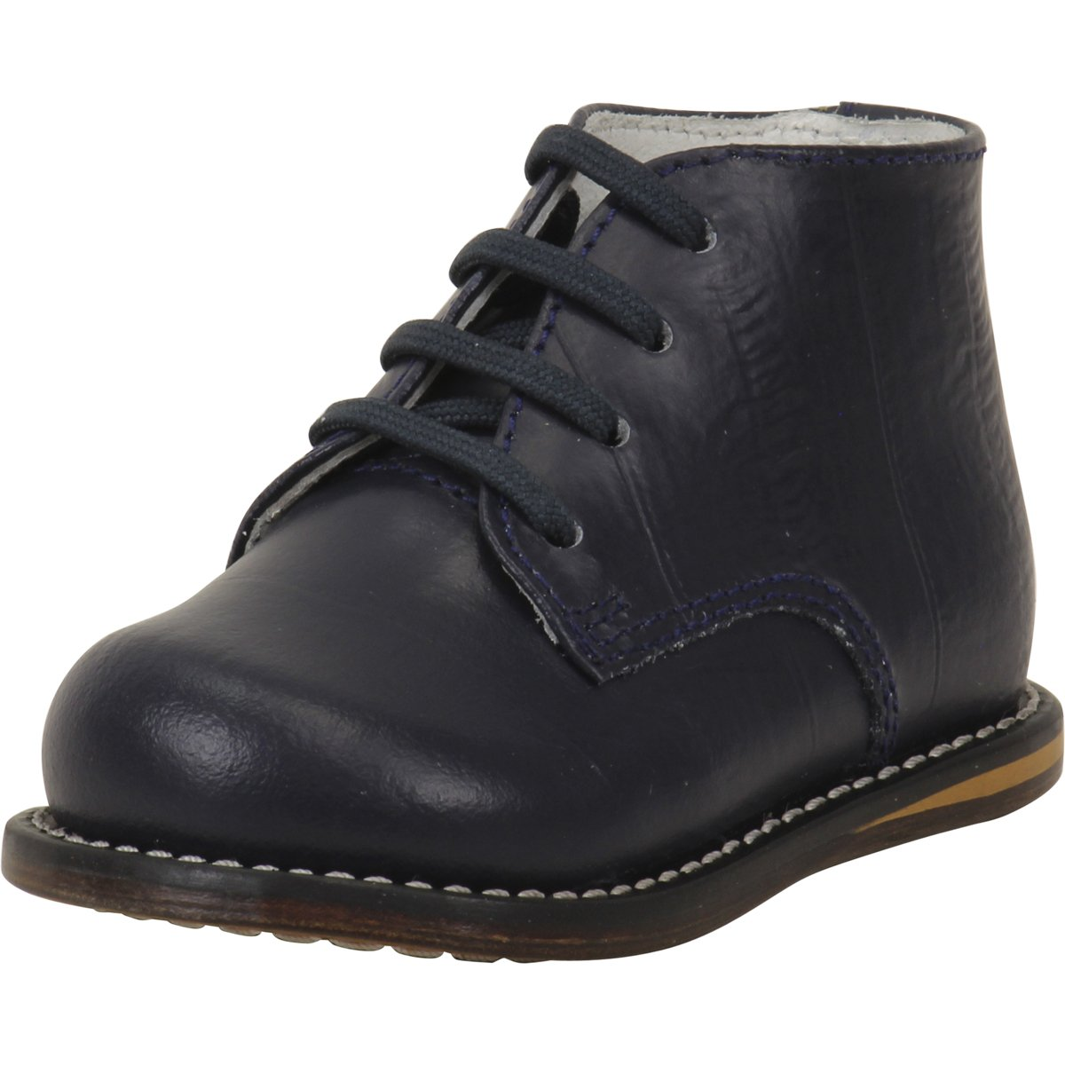 Josmo Infant/Toddler Boy's First Walker Navy Eel Lace Up Oxfords Shoes 8190