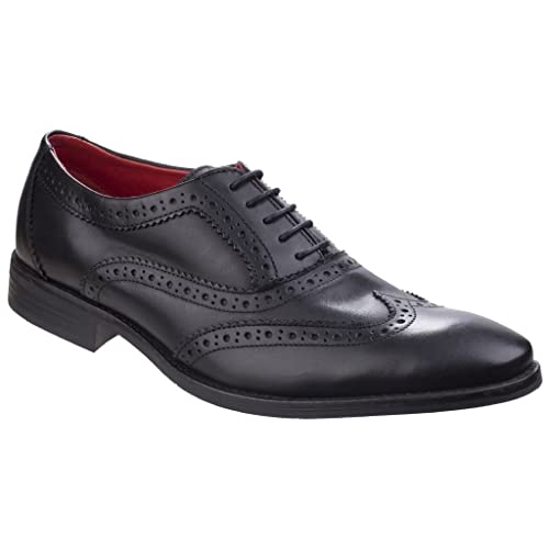 Base London Bramble Burnished Rosewood Leather Mens Brogues Formal Shoes