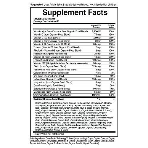 Garden of Life Multivitamin for Women - mykind Organic Women Whole Food Vitamin Supplement, Vegan, 120 Tablets by Garden of Life (Image #5)