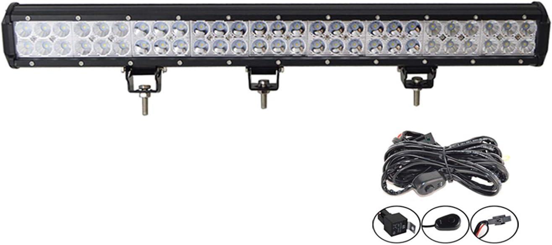 Willpower Barra LED 162W 64cm Barras de Luz de Trabajo Combinaci/ón de Punto Inundaci/ón Con Arn/és de Cableado 12V 24V Faro Led IP67 Impermeable Foco Led Coches 4x4 Tractors Caminos Barcos