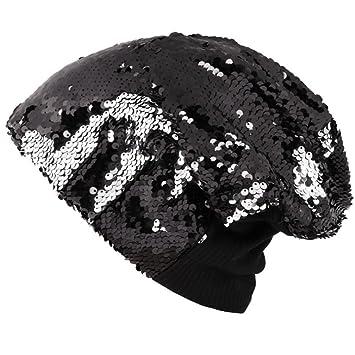 8fe320ef72619 Amazon.com  UMFun Unisex Sequin Bowknot Muslim Hat Chemo Caps Headwear Hair  Loss Head Scarf Wrap Scarf (Black)  Beauty