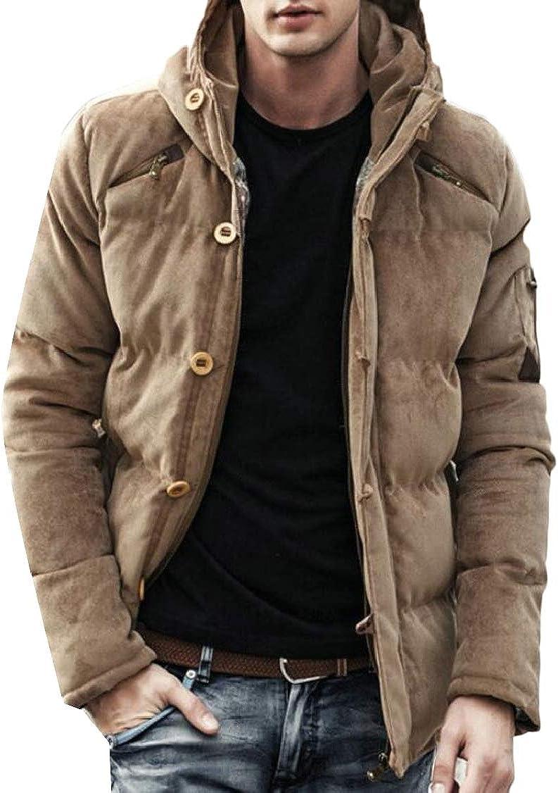 XQS Mens Winter Warm Lightweight Zip Up Down Jacket Puffer Outwear