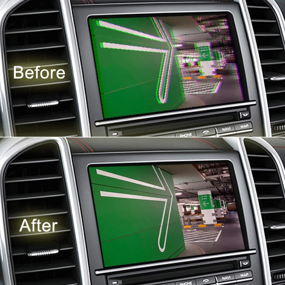 Universal C/ámara Rectificador Filtro para BMW Audi Benz VW Ford Mazda Coche Marcha Atr/ás C/ámara Filtro Coche CC 12V Energ/ía Rectificador Filtro para C/ámara Anti-interferencia