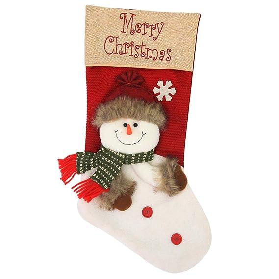 Weimay 1PCS Decoraciones de Navidad de Calcetines de Caramelo Calcetines Grandes y Lindos Decoración de Navidad Papá Noel Colgando Decoración de Árbol ...
