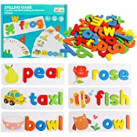 AM ANNA See Spelling Learning Toy Wooden Educational Developmental Toy Develops Vocabulary and Spelling Skills with 28…
