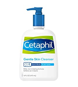 Cetaphil Gentle Cleanser for All Skin Types,(pack of 2, 16oz)