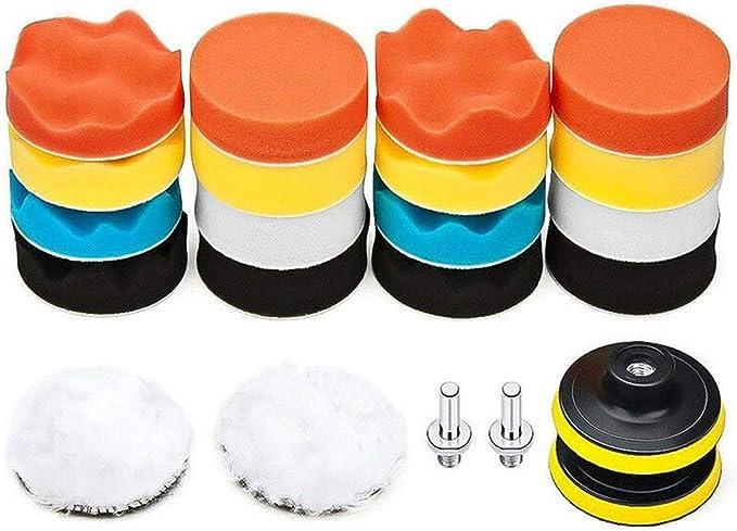 Ds Distinctive Style 7 6 Cm Polierpad Für Bohrmaschine 22 Stück Auto Polierpads Kit Bekleidung