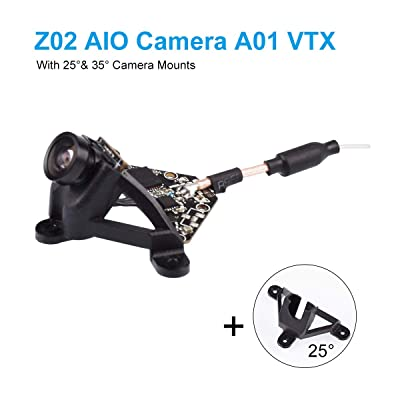BETAFPV Z02 AIO Camera A01 VTX 5.8GHz 0/25/200mW Transmitter 600TVL NTSC/PAL with 25 and 35 Degree Camera Mount Support OSD SmartAudio for Tiny Whoop Drone: Camera & Photo