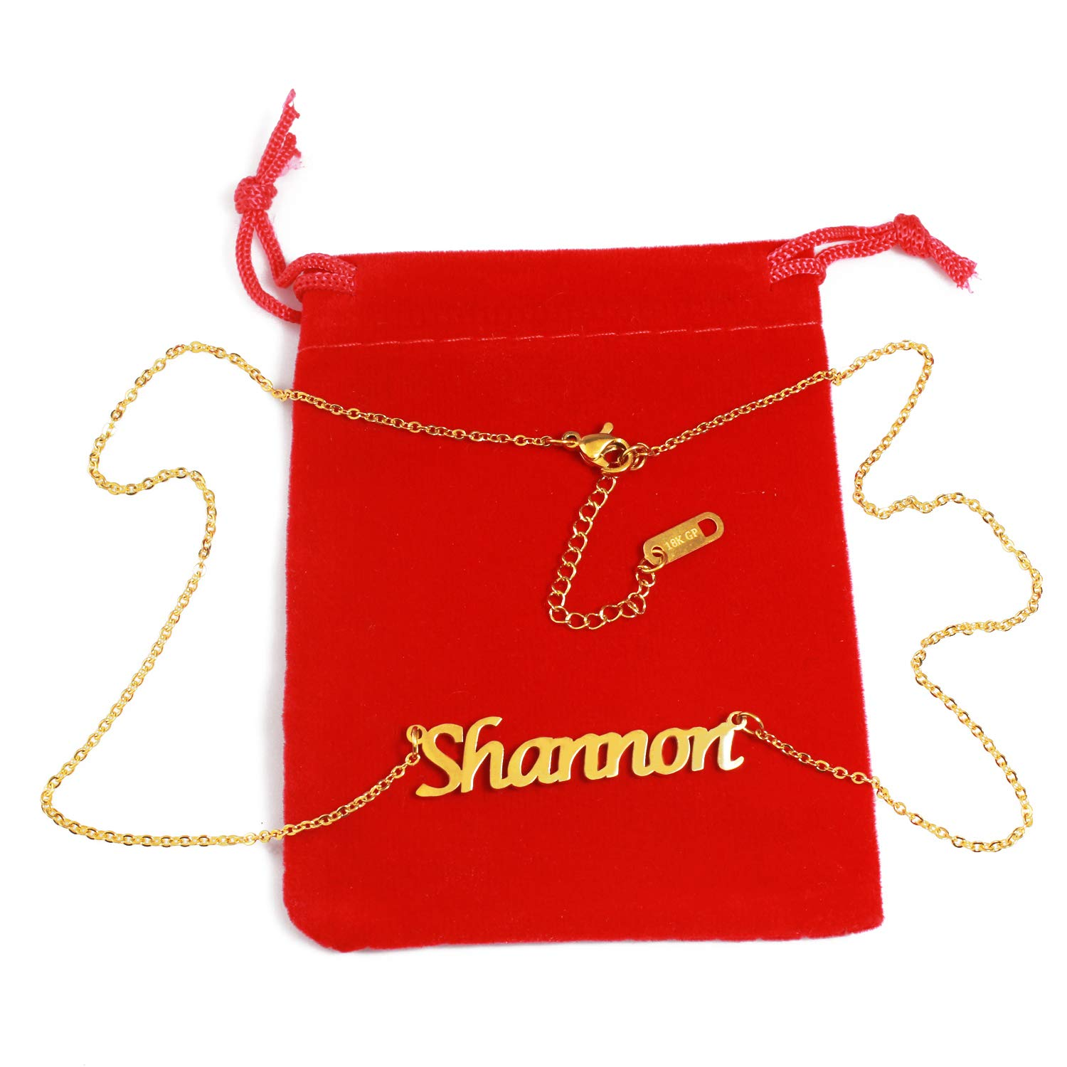 18ct Gold Plated Zacria Shannon Name Necklace
