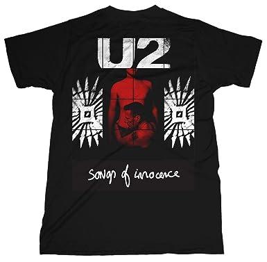 U2 Red Shade Album Songs of Innocence Rock oficial Camiseta para hombre: Amazon.es: Ropa y accesorios