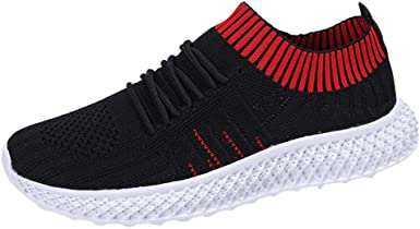 Hessimy Womens Walking Shoes Slip On Athletic Running Sneakers Knit Mesh Comfortable Work Shoe