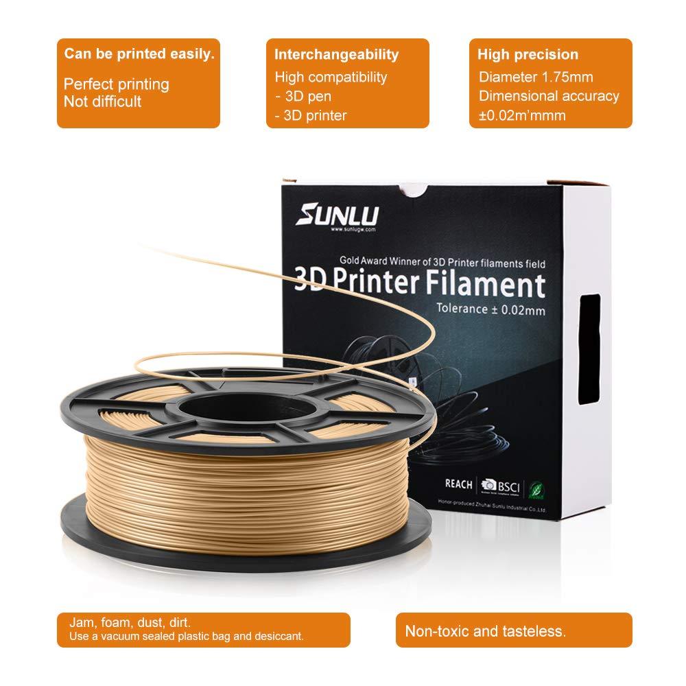 Dimensional Accuracy +//- 0.02 mm Sweet Smell 3D Printing Filament SUNLU Wood Filament 2.2 lbs Spool Wood 3D Printer Filaments for Most 3D Printer /& 3D Pen SUNLUGW wood001 1.75 mm 3D Printer Filament