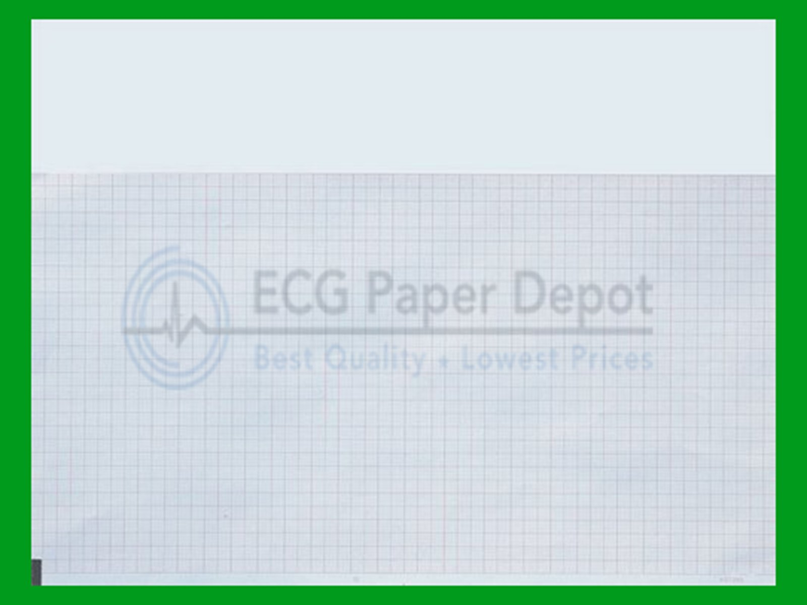 Burdick Compatible 007984 Fade Free Generic ECG Paper 8 Pack, Z-Fold, Red Grid, 8.50'' x 11''