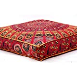 indian daybed big seating peacock mandala floor pillow cover pouf cushion case bohemian ottoman meditation throw large 3535 - Red Decorative Pillows