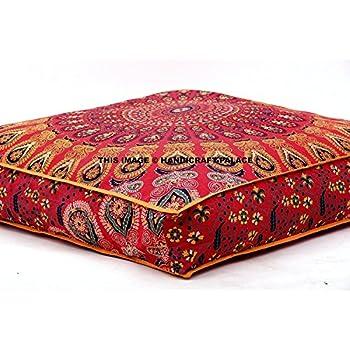Amazon.com: Large Indian Meditation Floor Pillow Cover 35\