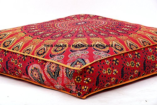 Indian Daybed Big Seating Peacock Mandala Floor Pillow Cover Pouf Cushion Case Bohemian Ottoman Meditation Throw Large 3535