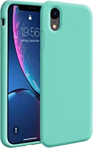 Zuslab Case for iPhone XR Case Silicone Gel Rubber Bumper Cover for Apple iPhone XR Phone Slim Thin Hard Shell Shockproof Full-Body Protective Case - Mint Green