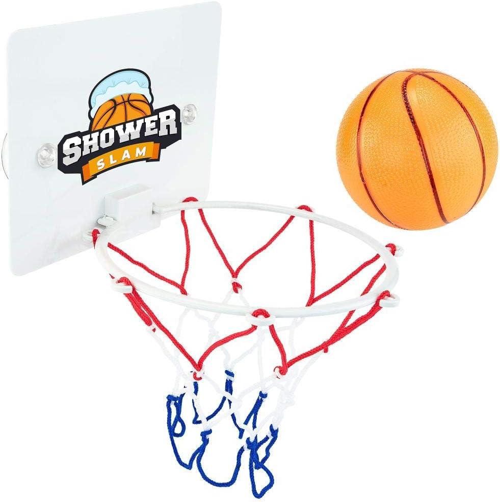 Poop Hoops Toilet Basketball Game Set Bathroom Fun Ball Hoop Kids Toy Sports Set