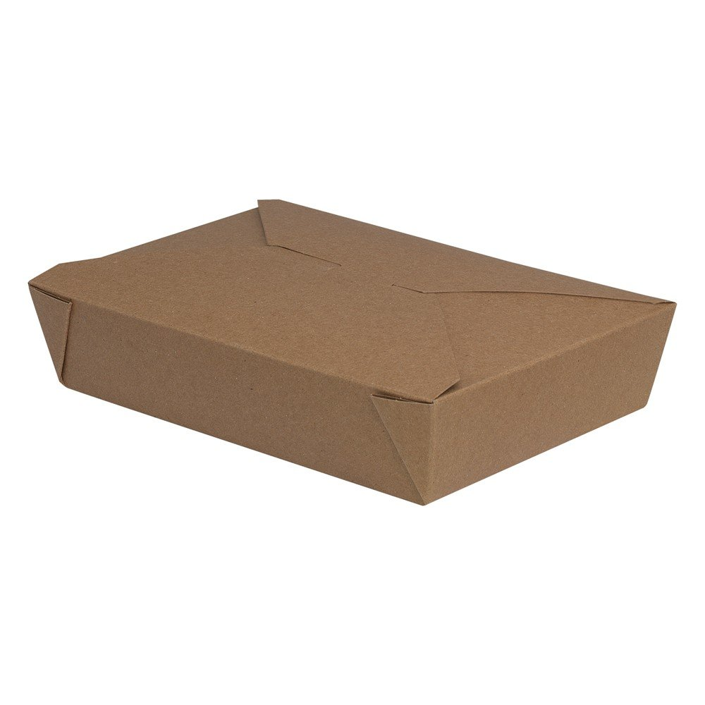 Dixie 49 oz. Reclosable Food Takeout Container by GP PRO (Georgia-Pacific), Kraft, 2TOC, 200 Count (50 Containers Per Sleeve, 4 Sleeves Per Case)