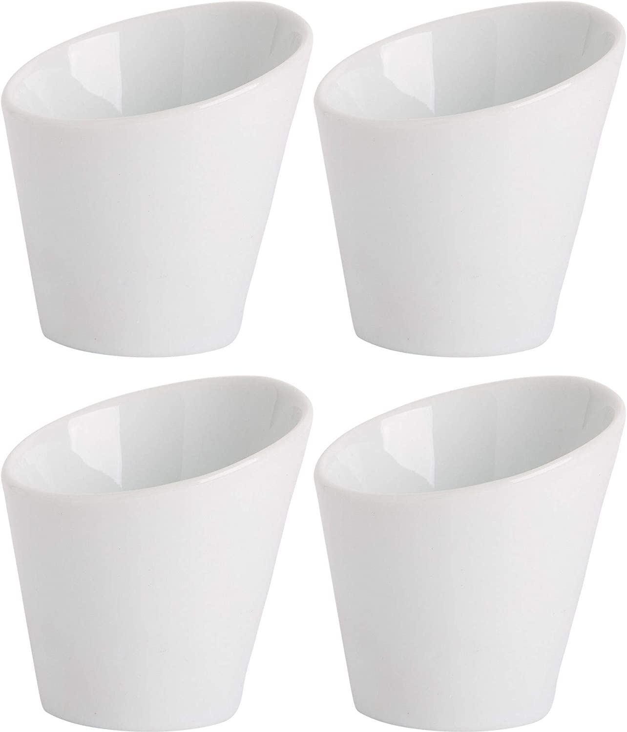 Home Essentials 15240 Fiddle and Fern Cone Shape Mini Taster, Set of 4, 3-inch Height
