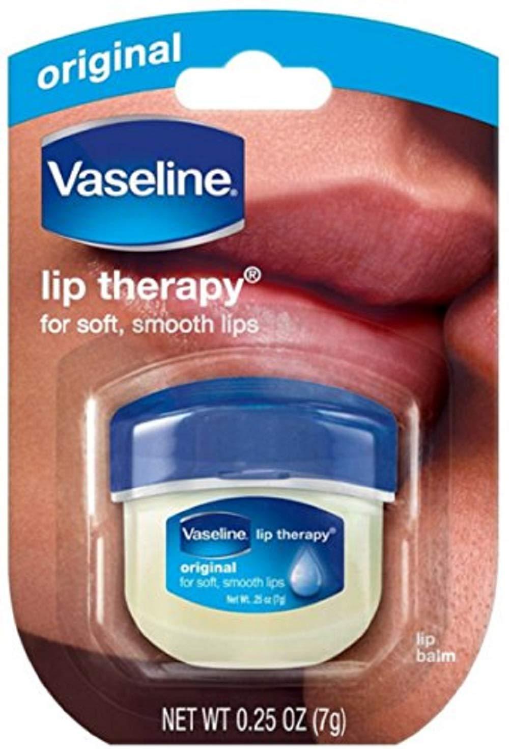 Vaseline Lip Therapy Original Mini, 0.25 ounces (Pack of 4)