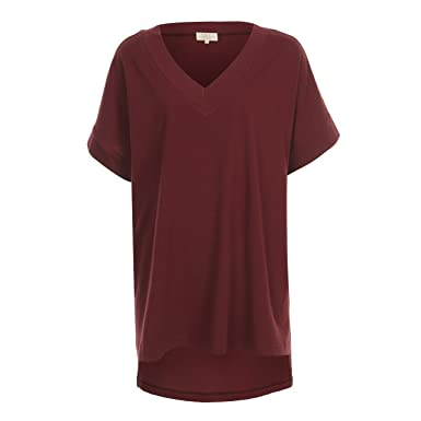 b8532eeef2c T.B.T. Women s Oversized Loose Fit Cotton Long T-Shirts Tunic at Amazon  Women s Clothing store