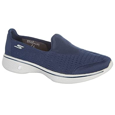 bb895131616 Skechers Ladies Go Walk 4  Pursuit  Trainers (Sizes 3-8) Memory Foam Slip  On Pumps  Amazon.co.uk  Shoes   Bags