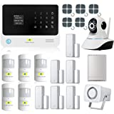 Golden Security Touch screen keypad LCD display WIFI & GSM 2-in-1 + 360 degree IP Camera with Auto Dial,Motion Detectors and more diy Home Alarm System G90B00