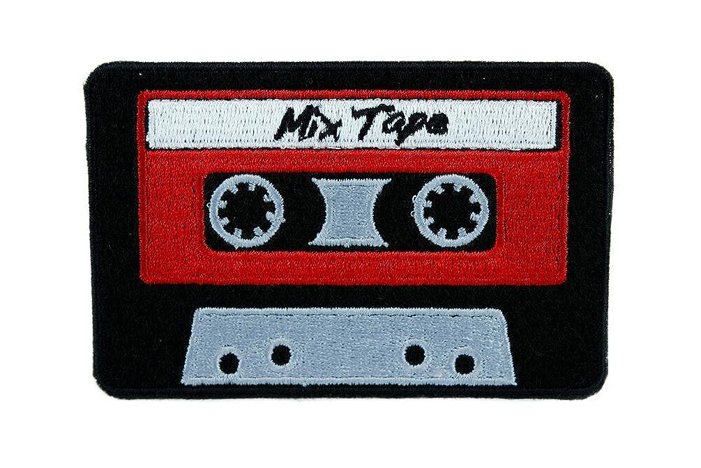 80's Nostalgia Cassette Tape Patch Iron on Applique Alternative Clothing Mix Tape