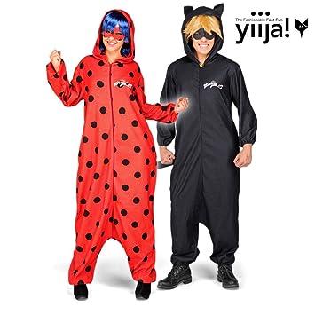 Disfraz de Cat Noir Pijama de Miraculous Ladybug con peluca para hombre