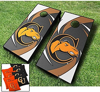 Campbell Fighting Camels Wood Cornhole Wraps