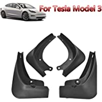 Great-luck Fender Flares 4Pcs/Set,Mud Flaps Full Protection Mud Flaps All in One Splash Guard for Tesla Model 3