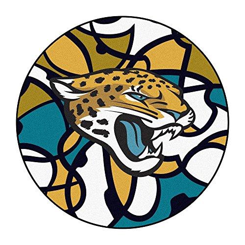 FANMATS NFL Jacksonville Jaguars NFL-Jacksonville Jaguarsroundel Mat, Team Color, One Size