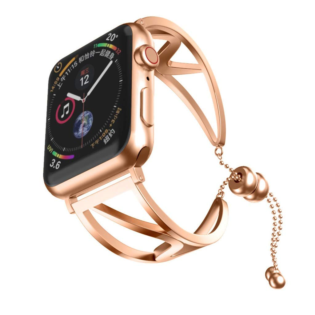 Shan-S Band Compatible for iWatch Series 5 40mm,Luxury Women Stainless Steel Metal Bracelet Replacement Wristband Jewelry Bangle Strap Compatible for iWatch Series 5 40mm Smarwatch by Shan-S