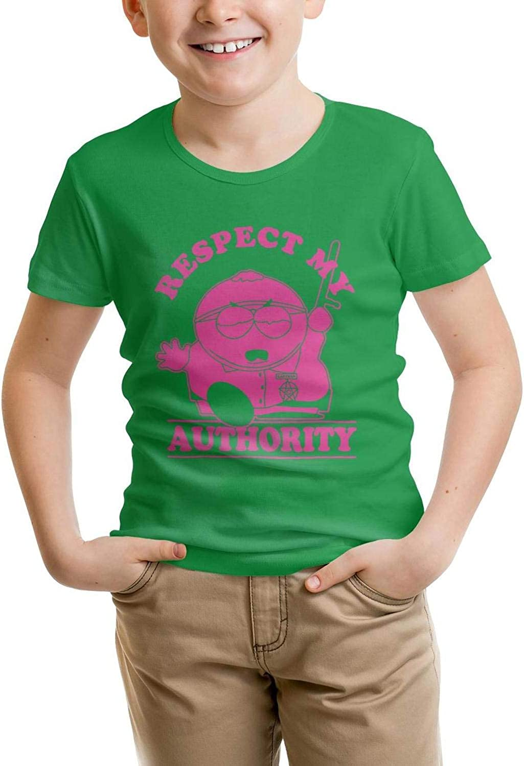 O-Neck T-Shirts LunchBaggg Comfortable Toddler BoysT Shirts for Youth South-Park-Respect-My-Authority
